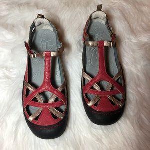 JBU by Jambu Dune Encore T Strap Red Shoes